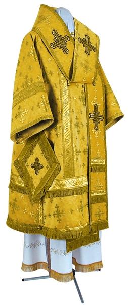Bishop vestments - metallic brocade BG1 (yellow-claret-gold)