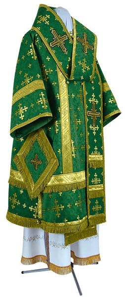 Bishop vestments - metallic brocade BG1 (green-gold)