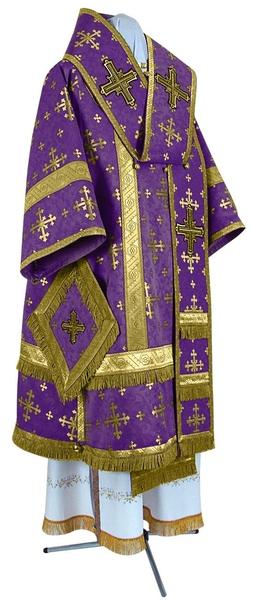 Bishop vestments - metallic brocade BG1 (violet-gold)