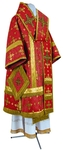 Bishop vestments - metallic brocade BG1 (red-gold)
