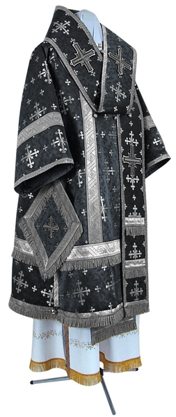 Bishop vestments - metallic brocade BG1 (black-silver)