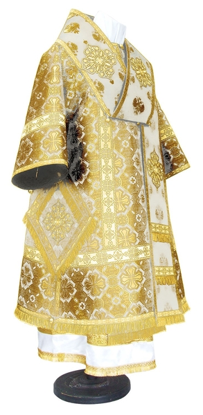Bishop vestments - metallic brocade BG1 (white-gold)
