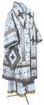 Bishop vestments - metallic brocade BG1 (white-silver)