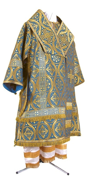 Bishop vestments - metallic brocade BG2 (blue-gold)