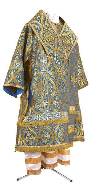 Bishop vestments - metallic brocade BG2 (blue-gold)