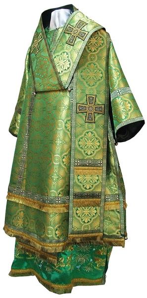 Bishop vestments - metallic brocade BG2 (green-gold)