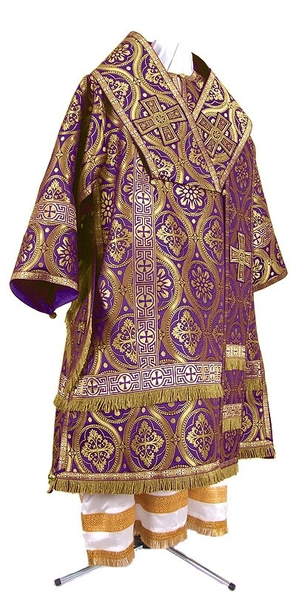 Bishop vestments - metallic brocade BG2 (violet-gold)