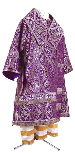 Bishop vestments - metallic brocade BG2 (violet-silver)