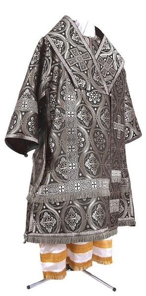 Bishop vestments - metallic brocade BG2 (black-silver)