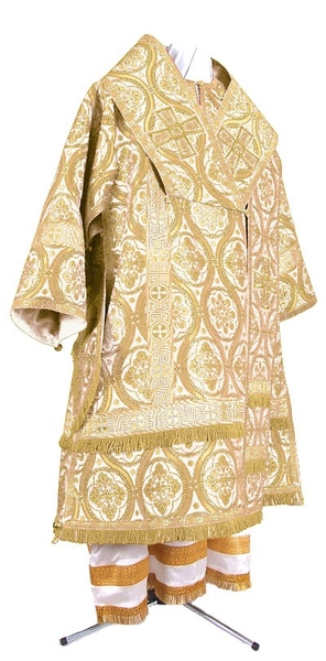 Bishop vestments - metallic brocade BG2 (white-gold)