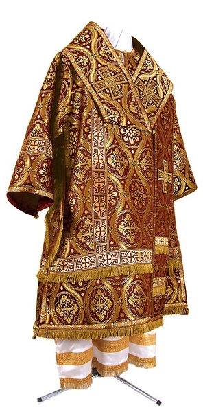 Bishop vestments - metallic brocade BG3 (claret-gold)