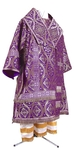 Bishop vestments - metallic brocade BG3 (violet-silver)