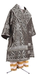 Bishop vestments - metallic brocade BG3 (black-silver)
