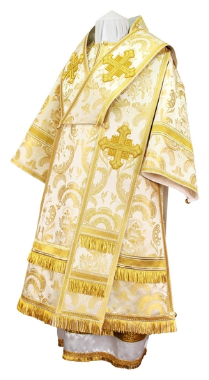 Bishop vestments - metallic brocade BG3 (white-gold)