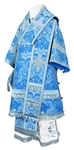 Bishop vestments - metallic brocade BG4 (blue-silver)