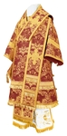 Bishop vestments - metallic brocade BG4 (claret-gold)