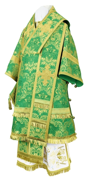 Bishop vestments - metallic brocade BG4 (green-gold)