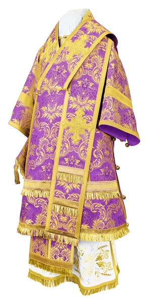 Bishop vestments - metallic brocade BG4 (violet-gold)