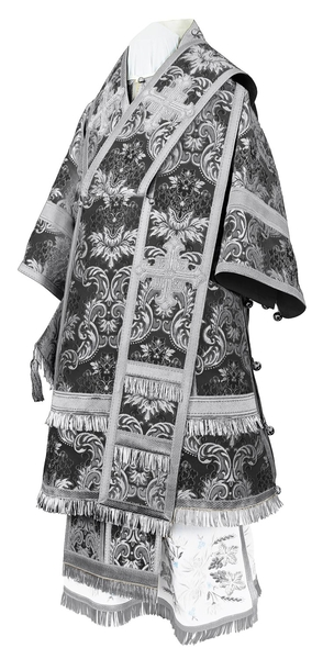 Bishop vestments - metallic brocade BG4 (black-silver)