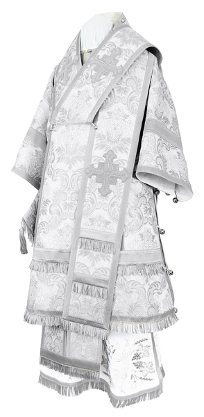 Bishop vestments - metallic brocade BG4 (white-silver)