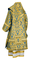 Bishop vestments - metallic brocade BG5 (blue-gold) back, Premium design
