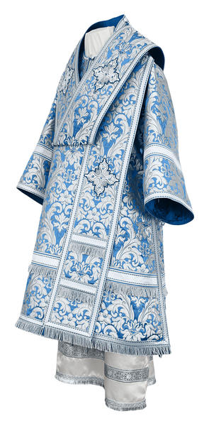 Bishop vestments - metallic brocade BG5 (blue-silver)