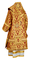 Bishop vestments - metallic brocade BG5 (claret-gold) back, Premium design