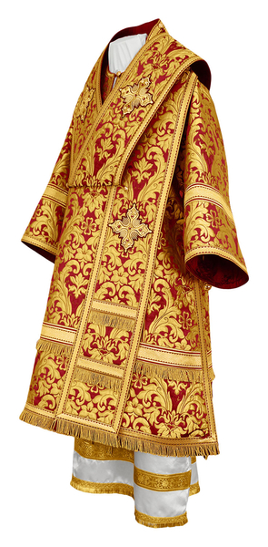 Bishop vestments - metallic brocade BG5 (claret-gold)