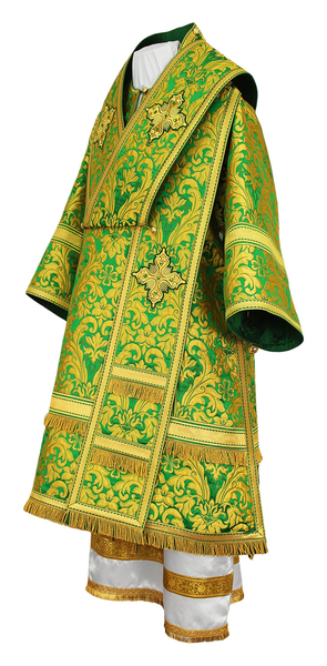 Bishop vestments - metallic brocade BG5 (green-gold)