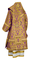Bishop vestments - metallic brocade BG5 (violet-gold) back, Premium design