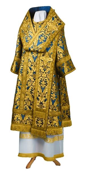 Bishop vestments - metallic brocade BG6 (blue-gold)