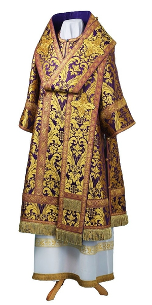 Bishop vestments - metallic brocade BG6 (violet-gold)