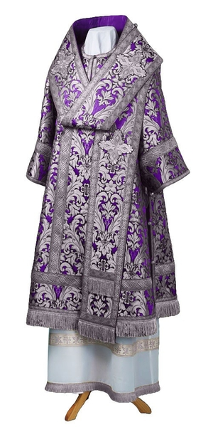 Bishop vestments - metallic brocade BG6 (violet-silver)