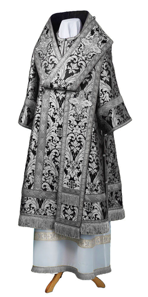 Bishop vestments - metallic brocade BG6 (black-silver)