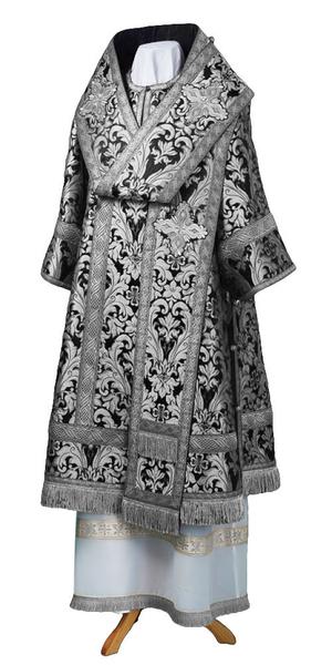 Bishop vestments - metallic brocade BG6 (black-silver)