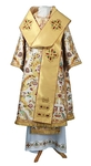 Bishop vestments - metallic brocade BG6 (white-gold)