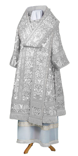 Bishop vestments - metallic brocade BG6 (white-silver)