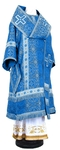 Bishop vestments - rayon brocade S2 (blue-silver)