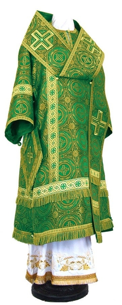 Bishop vestments - rayon brocade S2 (green-gold)