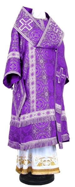 Bishop vestments - rayon brocade S2 (violet-silver)