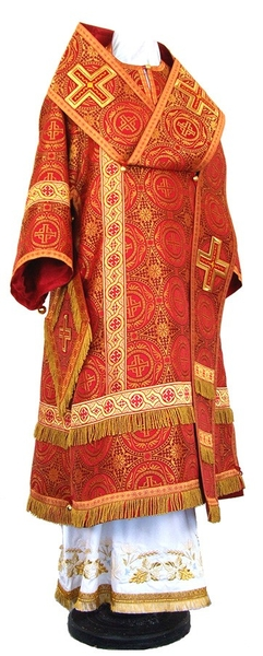 Bishop vestments - rayon brocade S2 (red-gold)
