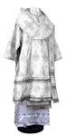 Bishop vestments - rayon brocade S2 (white-silver)