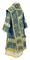 Bishop vestments - Theophania rayon brocade S3 (blue-gold) back, Standard design