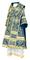 Bishop vestments - Alania rayon brocade S3 (blue-gold), Standard design