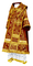 Bishop vestments - Alania rayon brocade S3 (claret-gold), Standard design