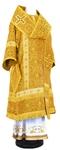Bishop vestments - rayon brocade S3 (yellow-claret-gold)