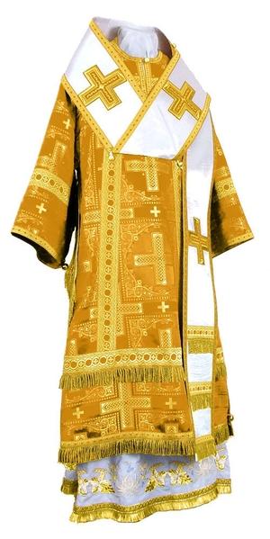 Bishop vestments - rayon brocade S3 (yellow-gold)