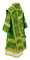 Bishop vestments - Theophania rayon brocade S3 (green-gold) (back), Standard cross design