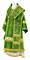 Bishop vestments - Theophania rayon brocade S3 (green-gold), Standard cross design