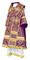Bishop vestments - Alania rayon brocade S3 (violet-gold), Standard design